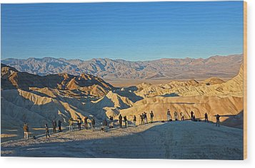 Wood Print featuring the photograph Sunrise At Zabriskie Point - Death Valley by Dana Sohr