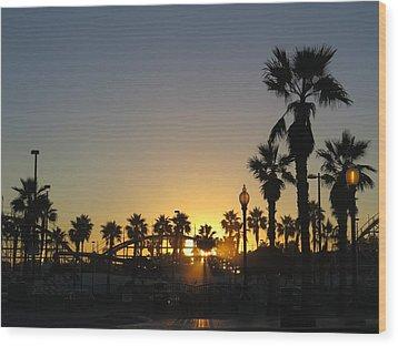 Sunrise Belmont Park San Diego 1 Wood Print