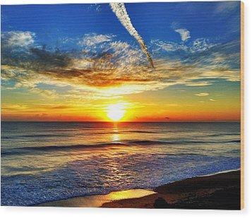 Sunrise Wood Print by Carlos Avila