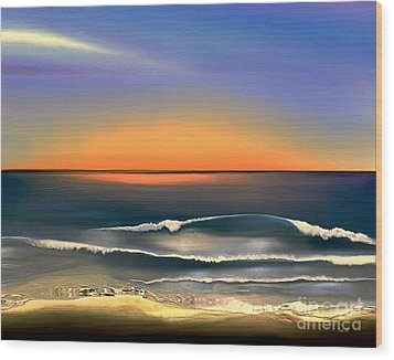 Sunrise Wood Print by Dale   Ford