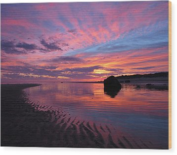 Wood Print featuring the photograph Sunrise Drama by Dianne Cowen