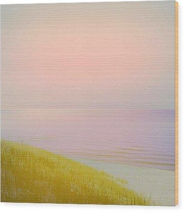 Sunrise Dune Wood Print by Michelle Calkins