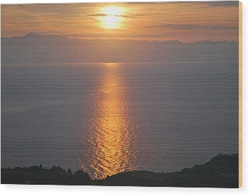 Wood Print featuring the photograph Sunrise Erikousa 1 by George Katechis