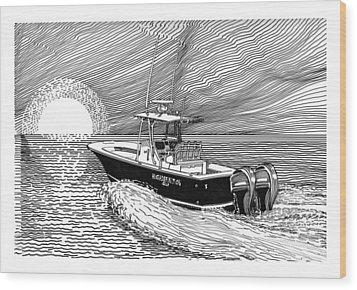 Sunrise Fishing Wood Print by Jack Pumphrey