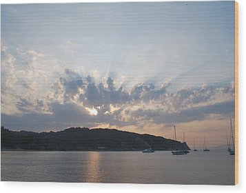 Wood Print featuring the photograph Sunrise by George Katechis