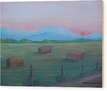 Sunrise Wood Print by Glenda Barrett