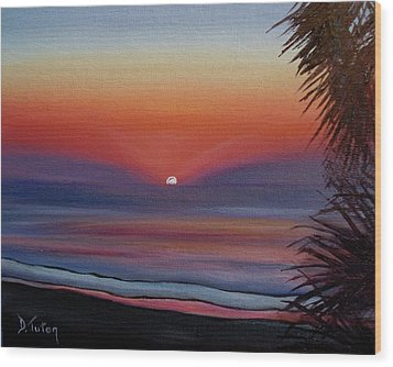 Wood Print featuring the painting Sunrise Glow by Donna Tuten