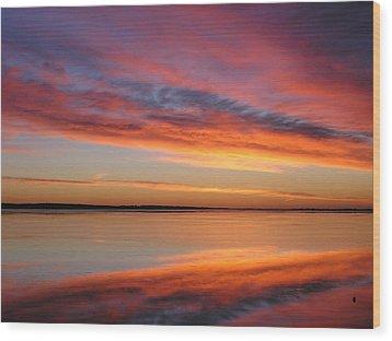 sunrise Glow Wood Print by Jewels Blake Hamrick