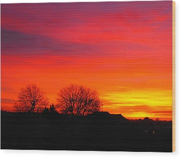 Sunrise Harrow Wood Print