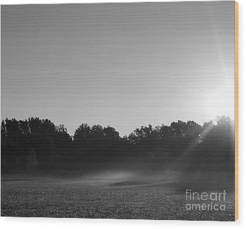 Wood Print featuring the photograph Sunrise In Black And White by Anita Oakley