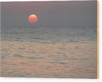 Sunrise In Crete Wood Print by Sergey Simanovsky