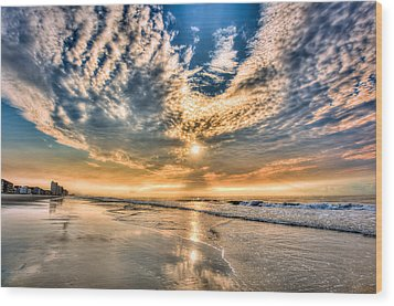 Sunrise In Myrtle Beach Wood Print by Brent Craft