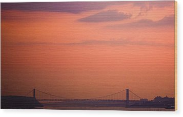 Wood Print featuring the photograph Sunrise In New York by Sara Frank
