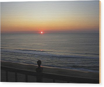 Wood Print featuring the photograph Sunrise In Ocean City by Victoria Lakes