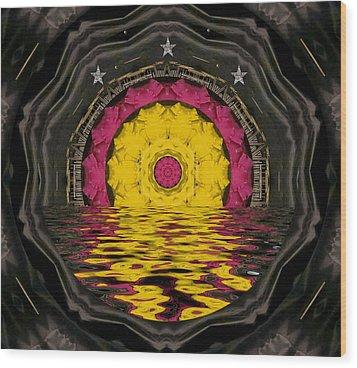 Sunrise In Paradise Pop Art Wood Print by Pepita Selles