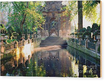Wood Print featuring the photograph Sunrise In Paris by Kathy Bassett