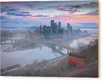Pittsburgh Fall Day Wood Print by Emmanuel Panagiotakis