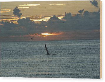 Wood Print featuring the photograph Sunrise In The Florida Riviera by Rafael Salazar