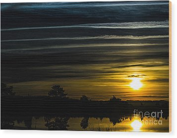 Wood Print featuring the photograph Sunrise In Virginia by Angela DeFrias