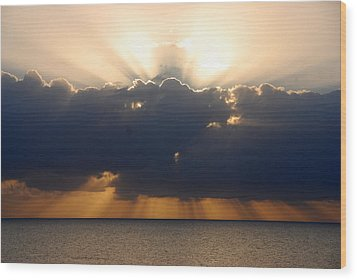 Sunrise Islamorada Wood Print by John Schneider