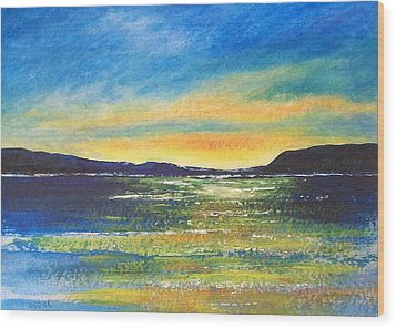 Wood Print featuring the painting Sunrise by Jane  See
