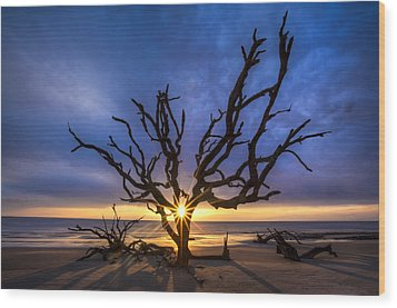 Sunrise Jewel Wood Print by Debra and Dave Vanderlaan