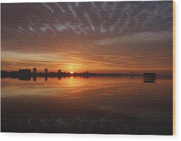 Sunrise Wood Print by Kimberly Oegerle