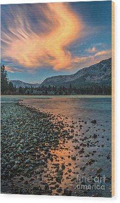 Sunrise Kiva Beach Wood Print by Mitch Shindelbower