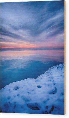 Sunrise Lake Michigan 12-19-13 2 Wood Print
