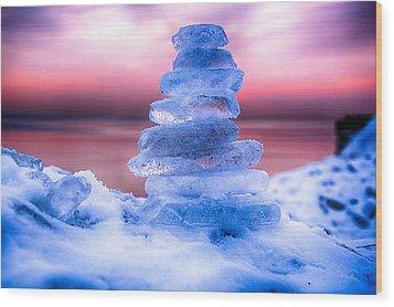 Sunrise Lake Michigan 12-19-13 3 Wood Print