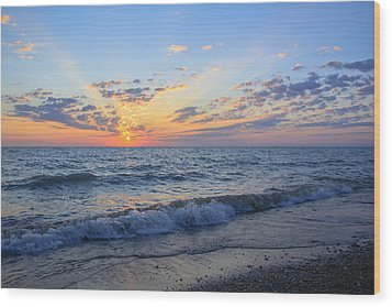 Sunrise Lake Michigan August 10th 2013 004 Wood Print