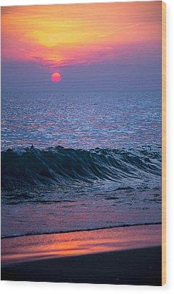 Sunrise Lake Michigan October 5th 001 Wood Print