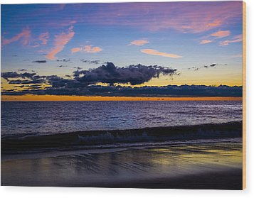 Wood Print featuring the photograph Sunrise Lake Michigan September 14th 2013 002 by Michael  Bennett