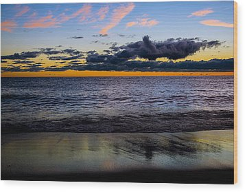 Wood Print featuring the photograph Sunrise Lake Michigan September 14th 2013 003 by Michael  Bennett
