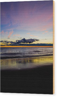 Wood Print featuring the photograph Sunrise Lake Michigan September 14th 2013 010 by Michael  Bennett