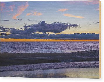 Wood Print featuring the photograph Sunrise Lake Michigan September 14th 2013 011 by Michael  Bennett