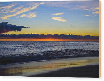 Wood Print featuring the photograph Sunrise Lake Michigan September 14th 2013 012 by Michael  Bennett