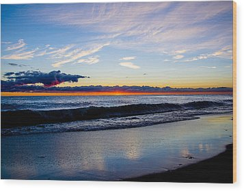 Wood Print featuring the photograph Sunrise Lake Michigan September 14th 2013 013 by Michael  Bennett