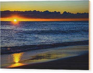 Wood Print featuring the photograph Sunrise Lake Michigan September 14th 2013 015 by Michael  Bennett