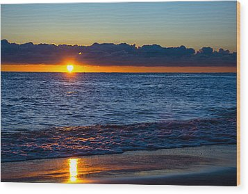 Wood Print featuring the photograph Sunrise Lake Michigan September 14th 2013 016 by Michael  Bennett
