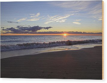 Wood Print featuring the photograph Sunrise Lake Michigan September 14th 2013 018 by Michael  Bennett