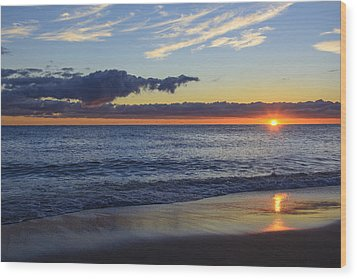 Wood Print featuring the photograph Sunrise Lake Michigan September 14th 2013 019 by Michael  Bennett