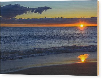 Wood Print featuring the photograph Sunrise Lake Michigan September 14th 2013 020 by Michael  Bennett