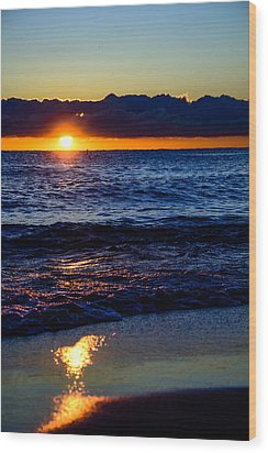 Wood Print featuring the photograph Sunrise Lake Michigan September 14th 2013 021 by Michael  Bennett