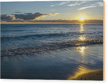 Wood Print featuring the photograph Sunrise Lake Michigan September 14th 2013 023 by Michael  Bennett