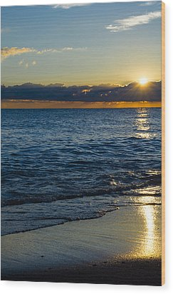 Wood Print featuring the photograph Sunrise Lake Michigan September 14th 2013 024 by Michael  Bennett