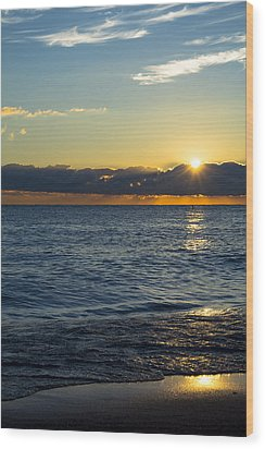 Wood Print featuring the photograph Sunrise Lake Michigan September 14th 2013 025 by Michael  Bennett