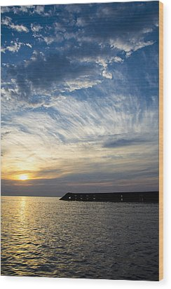 Wood Print featuring the photograph Sunrise Lake Michigan September 7th 2013  by Michael  Bennett