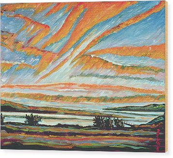 Sunrise Les Eboulements Quebec Wood Print by Patricia Eyre