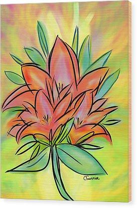Sunrise Lily Wood Print